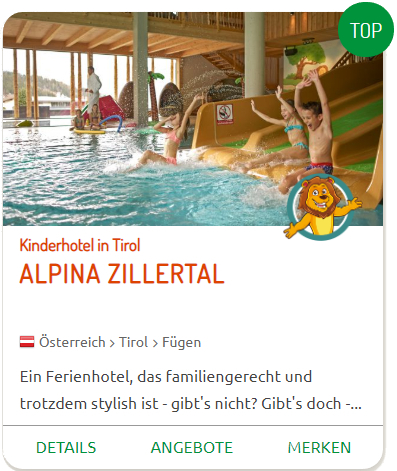 TOP-Hotels alpina zillertal