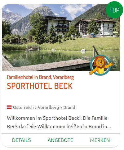 Urlaub mit Baby im Sporthotel Beck